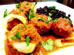Albondigas with Chipotle sauce.