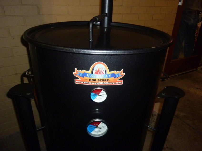 Bill's drum smoker