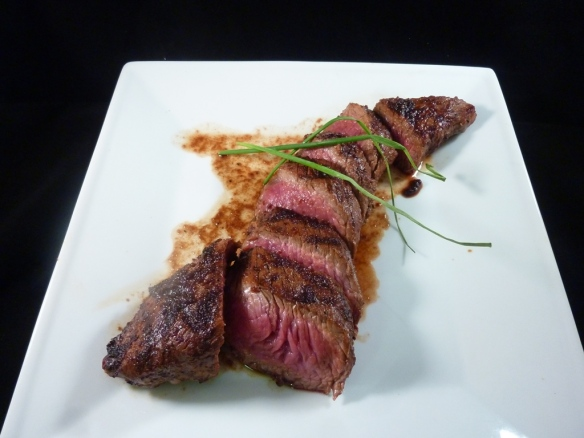 Teres Major steak, sliced