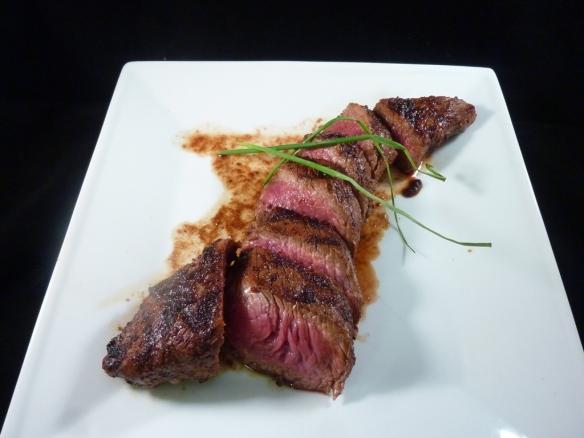 Teres Major steak, sliced